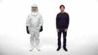 "Apple ""Get a Mac"" Ad: Biohazard Suit"
